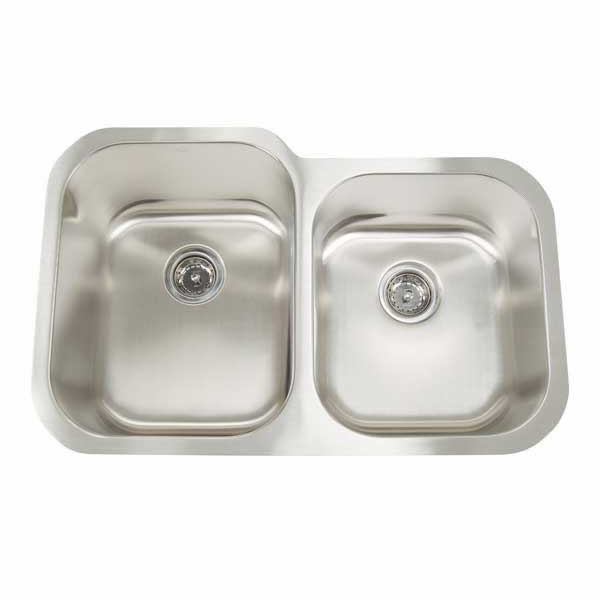 Double Sink Stainless Steel : Stainless Steel Double Sink -MS3221 Colonial Marble & Granite