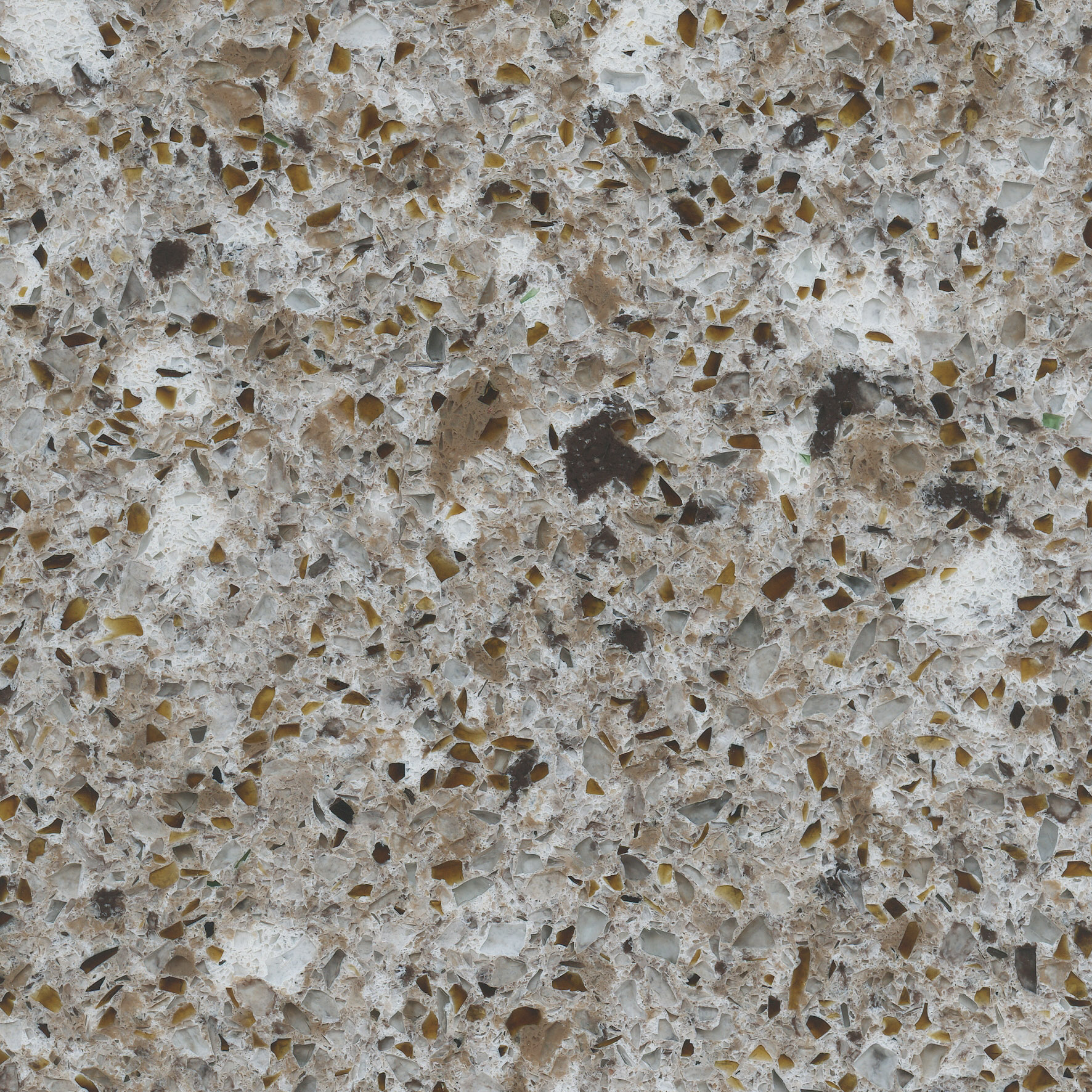 Forest Snow Eco Recycled Quartz Countertop Colonial