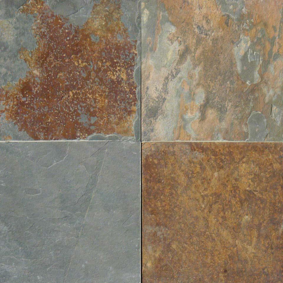 California Gold Slate : California gold multicolored slate flooring colonial