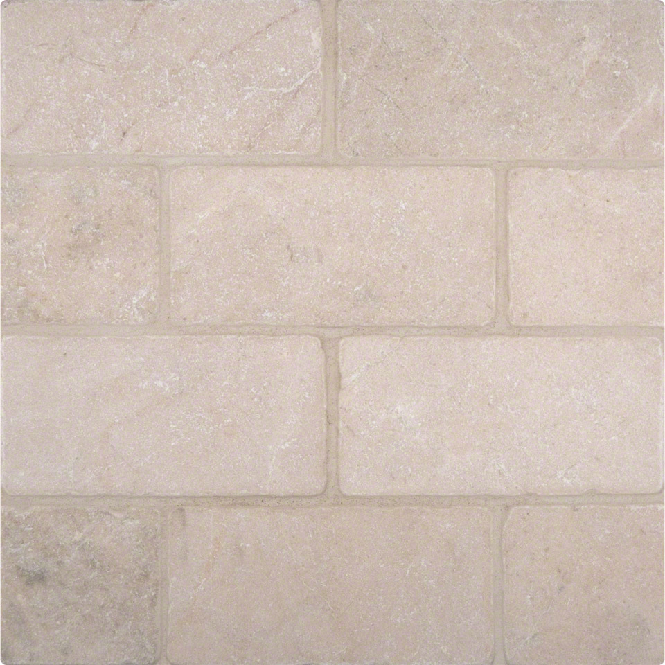 Crema marfil 3 6 tumbled tile colonial marble granite for Tumbled glass tile