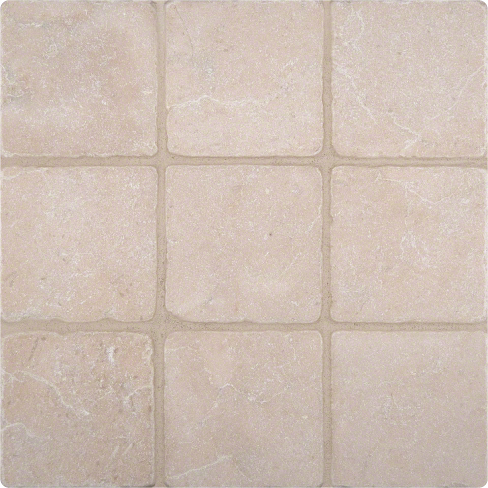 Crema marfil 4x4 tumbled tile colonial marble granite for Tumbled glass tile