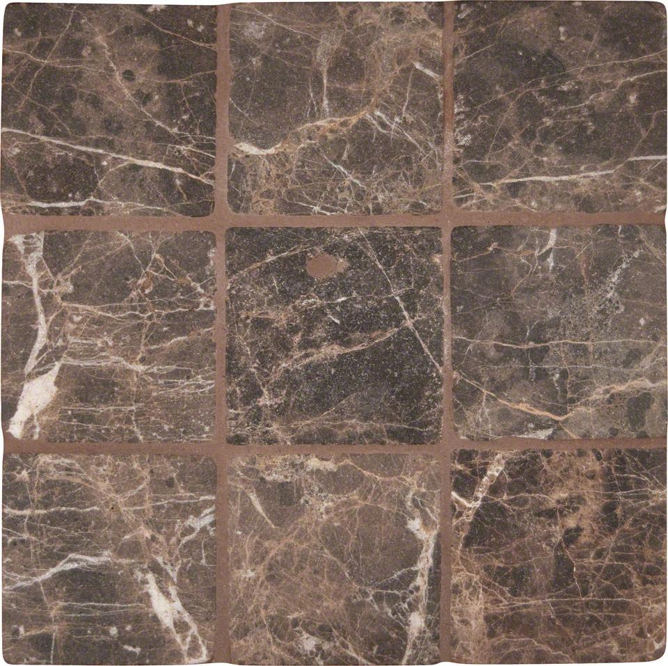 Emperador Dark 4x4 Tumbled Tile Colonial Marble Amp Granite