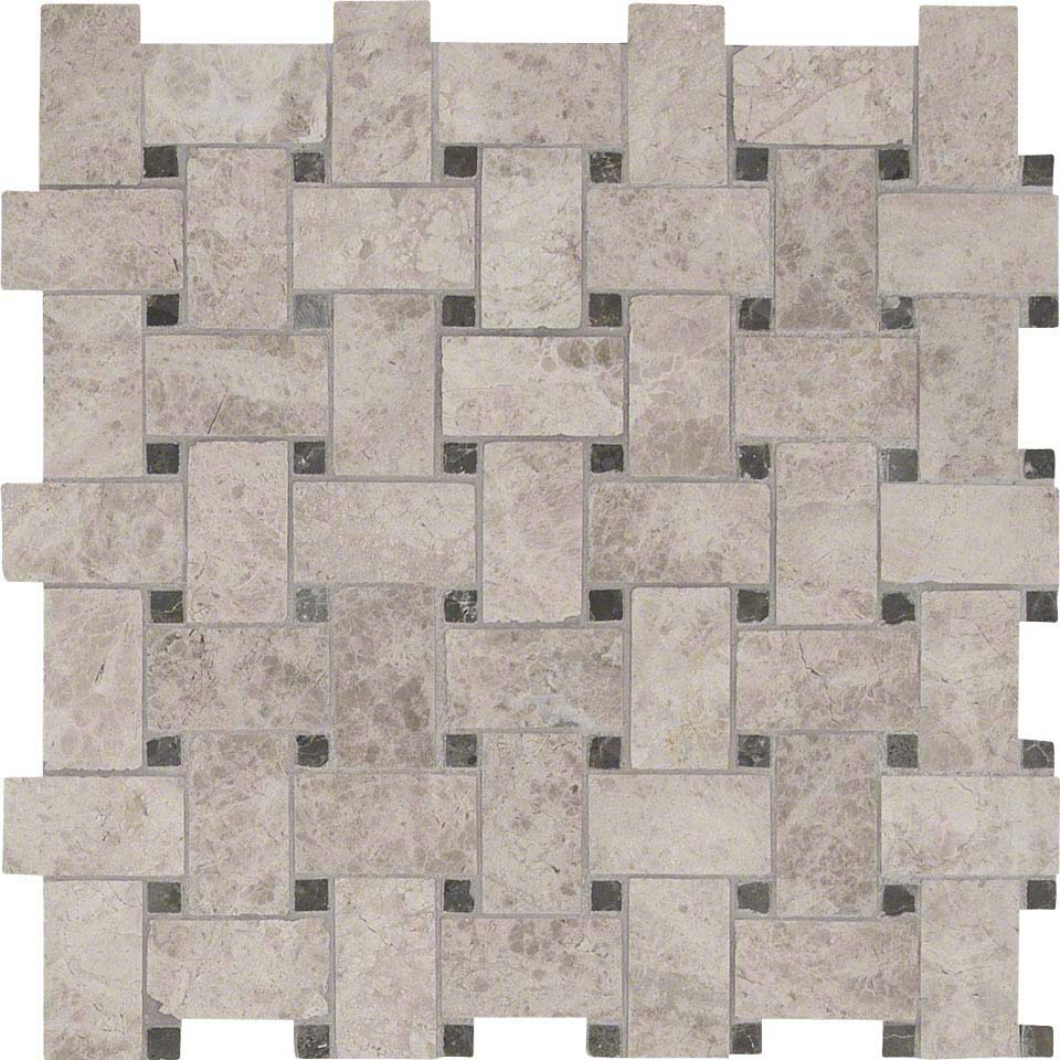 Tundra Gray Basketweave Pattern Polished | Colonial Marble ...