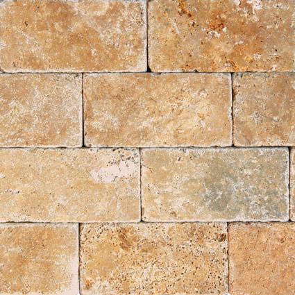 Tuscany Gold 3 6 Tumbled Tile