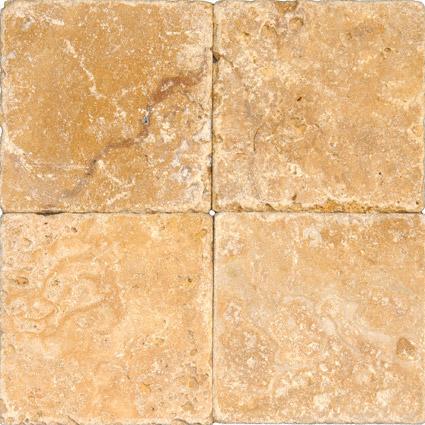 Tuscany Gold 6 Tumbled Tile