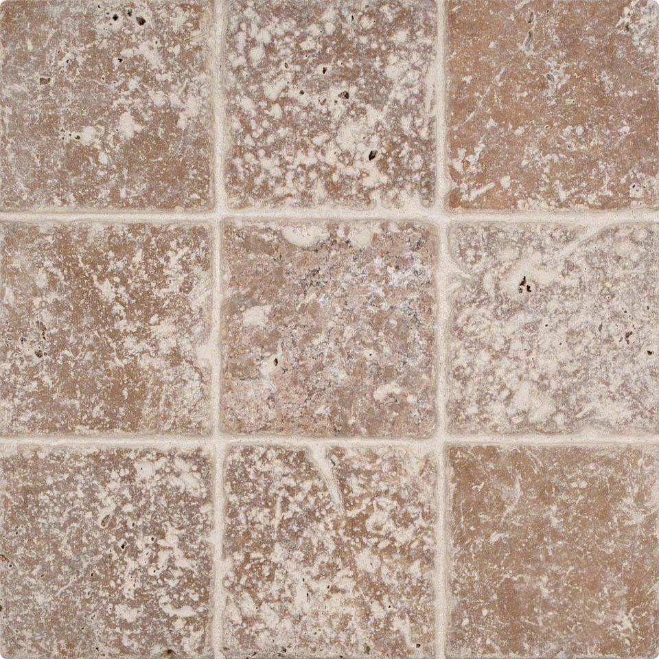 Tuscany Walnut 4 Tumbled Tile