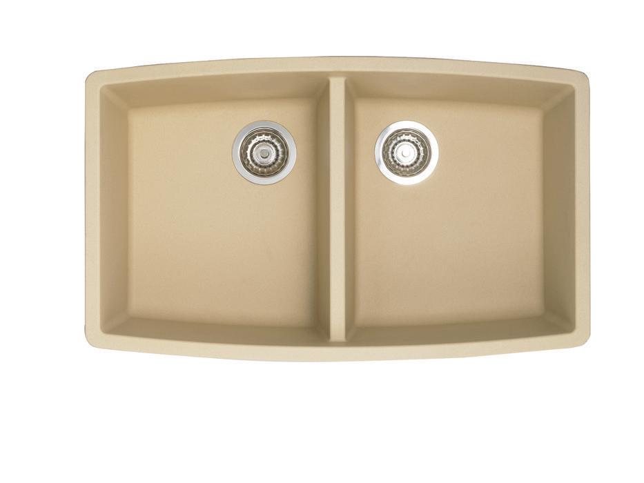 Performa silgranit ii double bowl biscotti colonial for Silgranit bathroom sinks