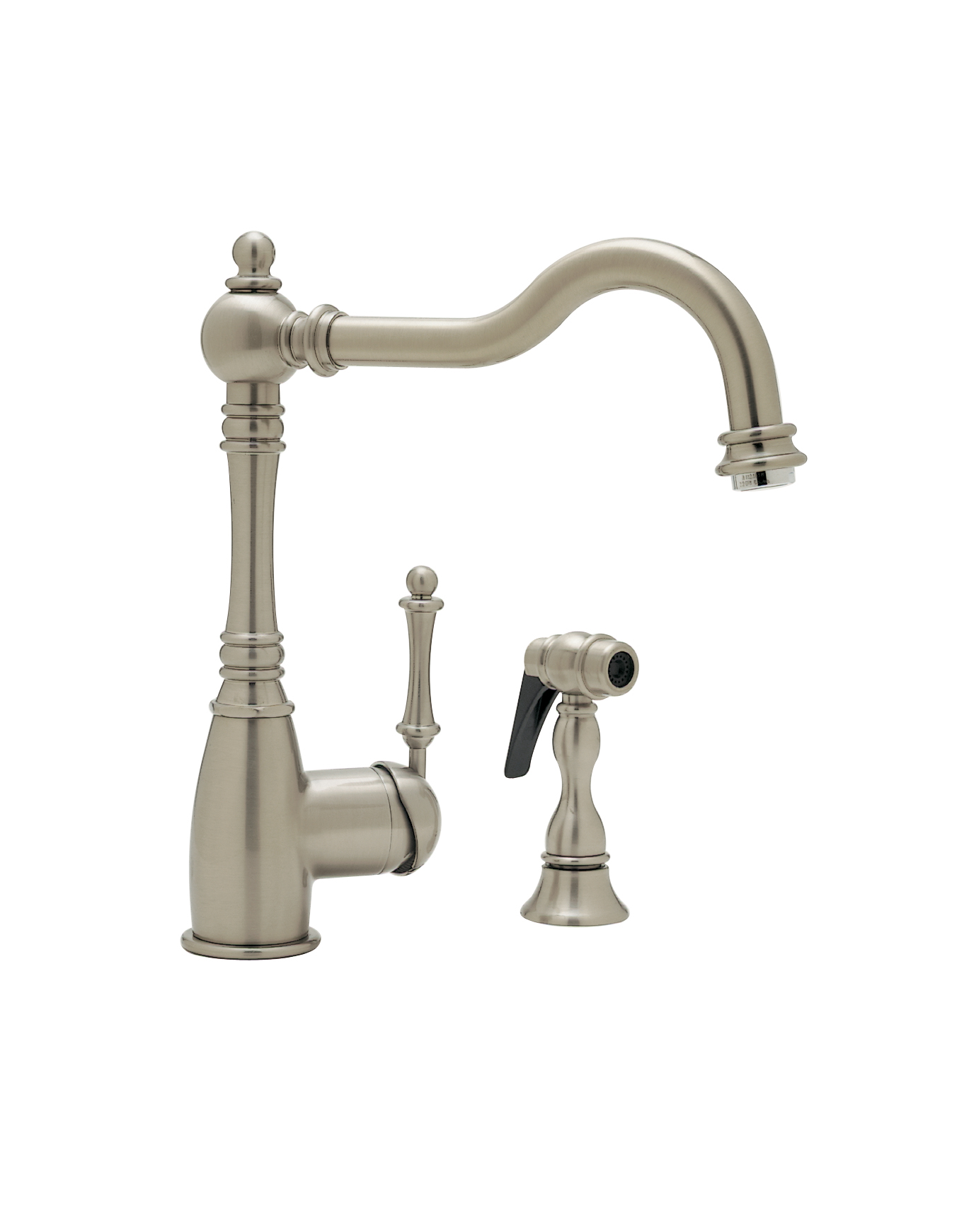 Blanco Faucet Reviews : Grace w/Sidespray 1.8 Satin Nickel Colonial Marble & Granite