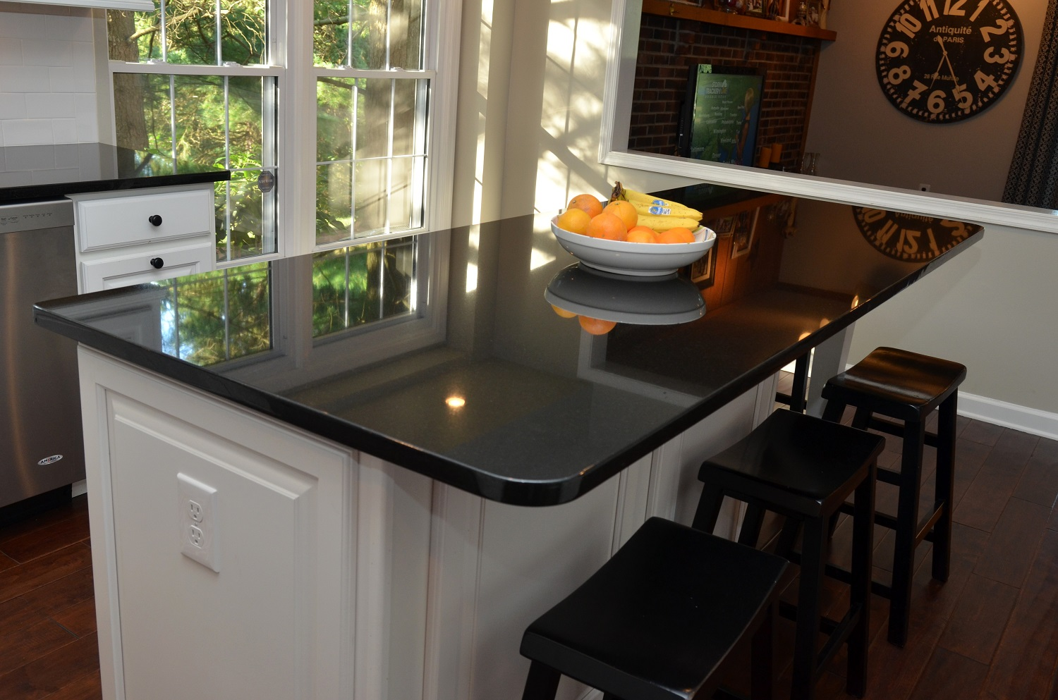 Absolute Black Granite Kitchen : Absolute black colonial marble granite