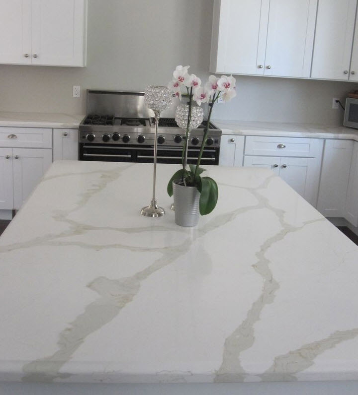 Calacatta Marble Kitchen: Colonial Marble & Granite