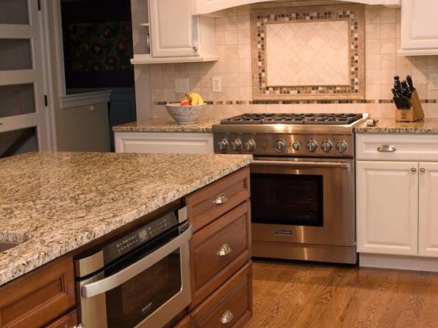 Material - Amber Yellow Granite / Edge - Eased