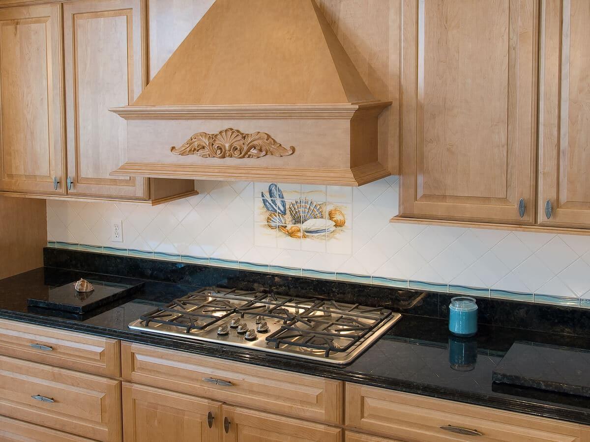 Material - Volga Blue Granite 3CM / Edge - Cove Dupont