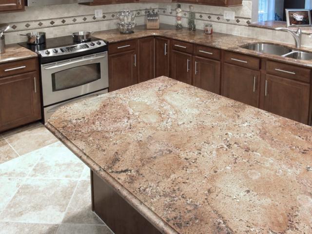 Material - Crema Bordeaux Granite 3CM / Edge - Ogee / Sink - CMG 3220