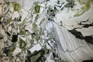 White Cliff granite countertop slab