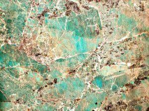 Amazonite granite countertop slab