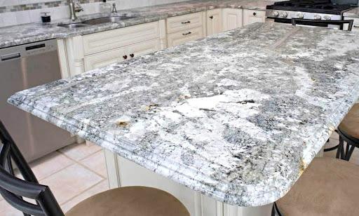 a granite kitchen countertop